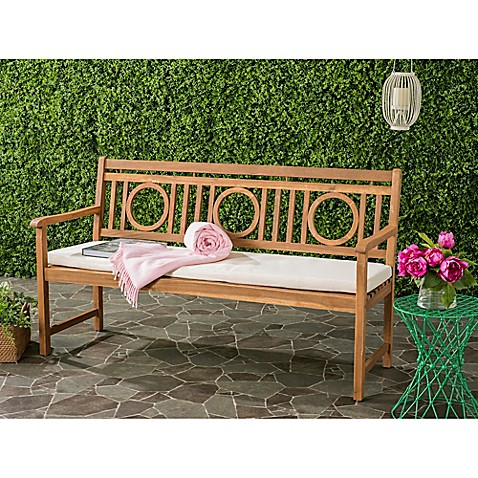 Safavieh Montclair Outdoor 3 Seat Bench With Cushion Bed