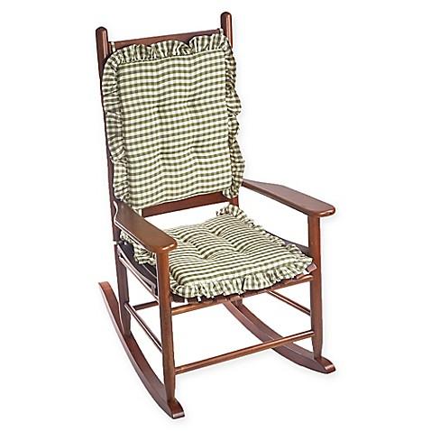 Klear Vu Gingham Ruffle 2 Piece Rocking Chair Pad Set