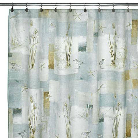 Avanti Blue Waters Fabric Shower Curtain Bed Bath Amp Beyond