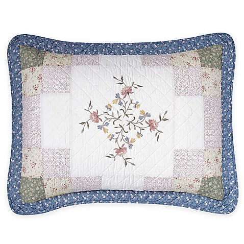 Buy Nostalgia Home Meadow King Pillow Sham In Ivory Blue