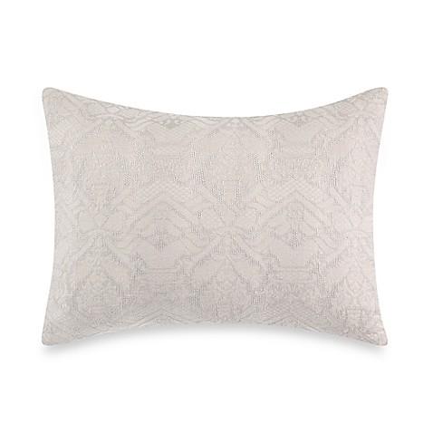 Wamsutta 174 Vintage Textured Jacquard Pillow Sham In Grey