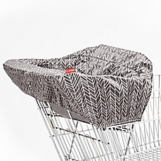 image of SKIP*HOP® Feather Take Cover Shopping Cart and High Chair Cover in Grey