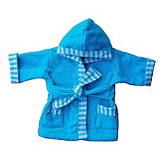 Whimsical Charm Size 12M Baby Bathrobe in Aqua