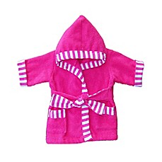Whimsical Charm Size 18M Baby Bathrobe in Pink