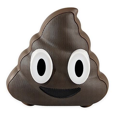 Jam 174 Wireless Bluetooth Poop Emoji Speaker In Brown Bed
