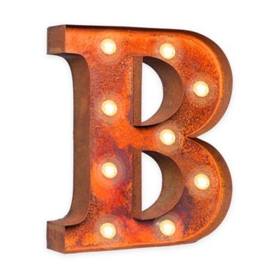 Buy Vintage Retro Lights & Signs Metal Letter