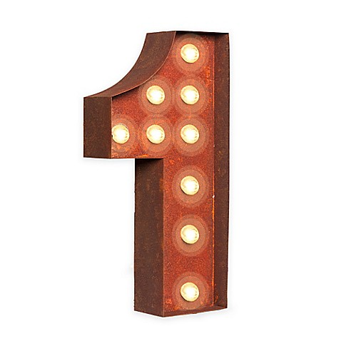 Buy Vintage Retro Lights Number 1 Wall Art from Bed Bath ...