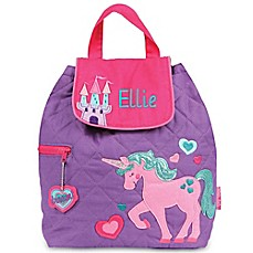 image of Stephen Joseph® Unicorn Quilted Backpack in Purple