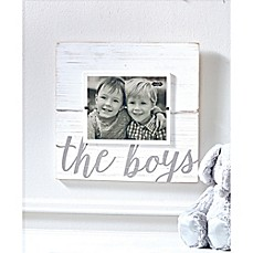 image of Mud Pie The Boys 8-Inch x 10-Inch Picture Frame in White