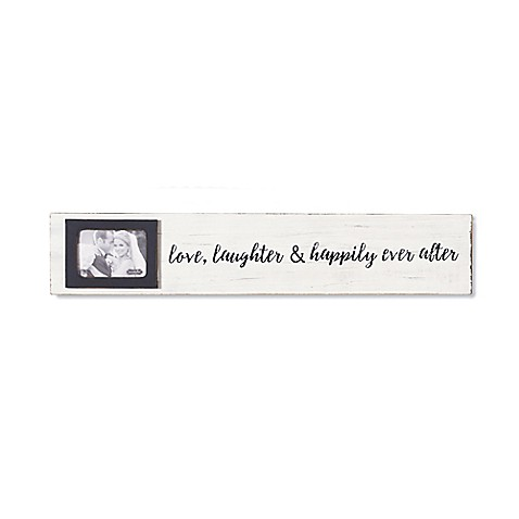 Mud Pie® Love, Laughter 2.5-Inch x 3.5-Inch Sentiment Stick Picture ...