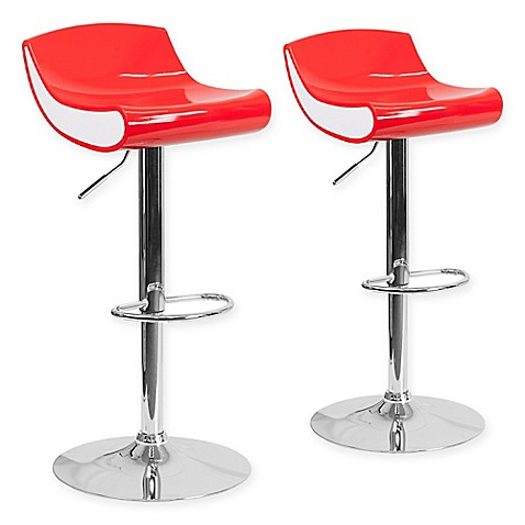 Buy Flash Furniture Adjustable Chrome Pedestal Bar Stool