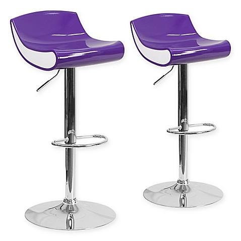 Flash Furniture Adjustable Chrome Pedestal Bar Stool Set