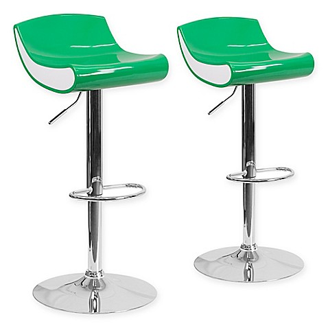 Buy Flash Furniture Adjustable Chrome Pedestal Bar Stool