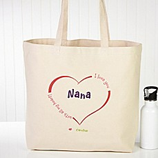 image of All Our Hearts Canvas Tote Bag
