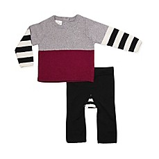 image of Cuddl Duds® 2-Piece Pullover Sweater and Pant Set in White/Grey