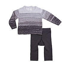 image of Cuddl Duds® Rocket Ship Top and Pant Set in Grey