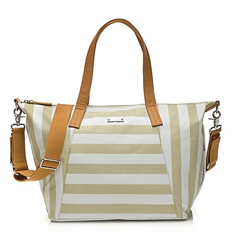 Storksak® Noa Diaper Bag in Stripe Fawn