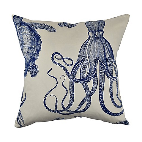 Vesper Lane Nautical Coastal Square Throw Pillow In Cream
