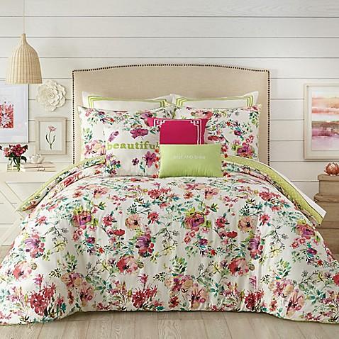 Jessica Simpson Watercolor Garden Comforter Set Bed Bath