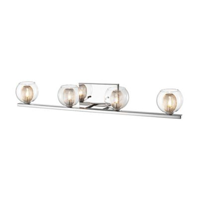 Buy Aguie 4-Light Wall Mount Vanity Fixture in Chrome from Bed Bath & Beyond