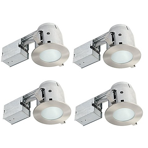 recessed led bathroom lighting globe electric 4 inch ceiling mount recessed led shower 20101