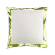 image of Jessica Simpson Watercolor Garden European Pillow Sham in Green