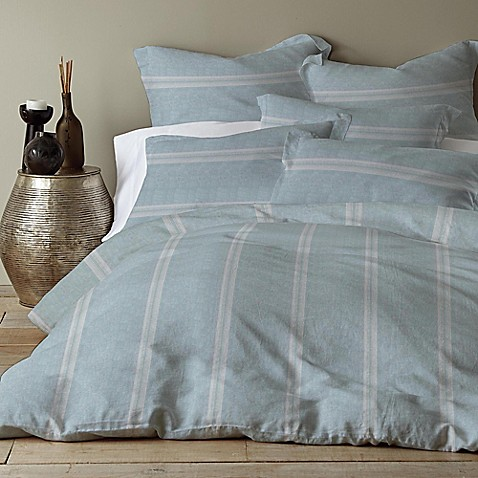 Levtex Home Washed Linen Cotton Blend Duvet Cover Bed
