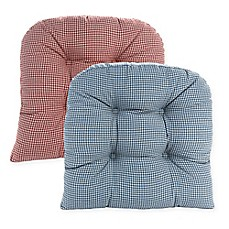 image of Klear Vu Gripper® Mini Gingham Chair Pads (Set of 2)