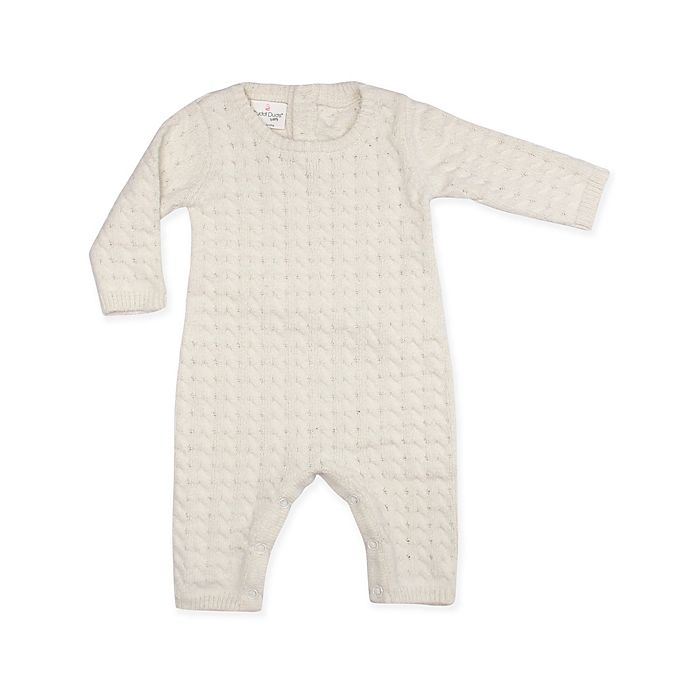 Alternate image 1 for Cuddl Duds® 2-Piece Cable Knit Coverall in Ivory