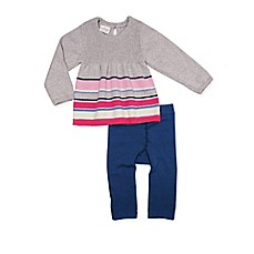 image of Cuddl Duds® 2-Piece Long Sleeve Stripe Tunic Top and Legging Set