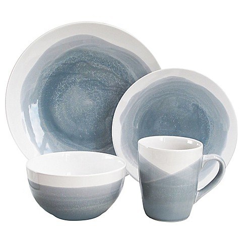 American Atelier Oasis 16-Piece Dinnerware Set in Blue/Grey