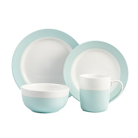American Atelier Serene 16-Piece Dinnerware Set in Green/White  sc 1 st  Bed Bath u0026 Beyond : green and white dinnerware - pezcame.com