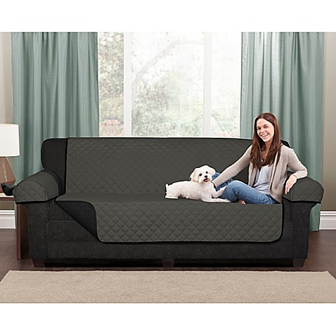 microfiber pet sofa cover in black grey from bed bath beyond