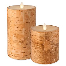 image of Luminara Real-Flame Effect Pillar Candle in Birch