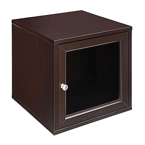Craft main 15 inch glass door cube in espresso bed for 15 inch door