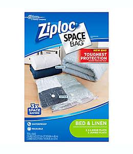 Bolsas transparentes al alto vacío de polietileno Space Bag® Ziploc® Set de 4