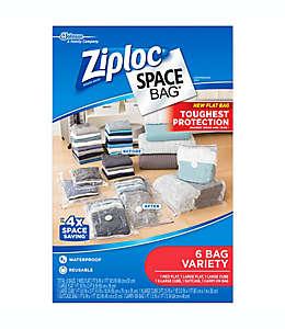 Bolsas transparentes al alto vacío de polietileno Space Bag® Ziploc® Set de 6