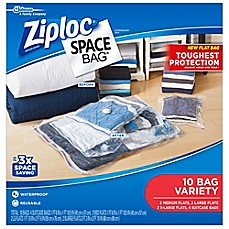 image of Ziploc® Space Bag® 10-Count Variety Pack in Clear