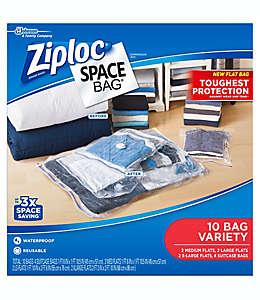 Bolsas transparentes al alto vacío de polietileno Space Bag® Ziploc® Set de 10