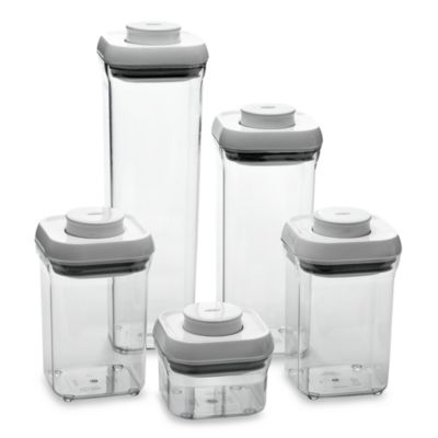 OXO Good Grips 5 Piece Food Storage Pop Container Set Bed Bath