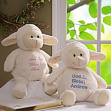 Personalized baby gifts personalized gifts for boys girls bed baptism blessings baby lamb negle Images