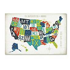 Wall Art Bed Bath Beyond - Artistic map of us