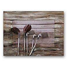 image of Clubs 40-Inch x 30-Inch Canvas/Wood Wall Art