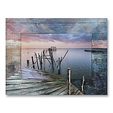 image of Pier 39-Inch x 29-Inch Canvas/Wood Wall Art