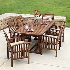 Image Of Forest Gate Eagleton Patio Acacia Wood Outdoor Furniture Collection
