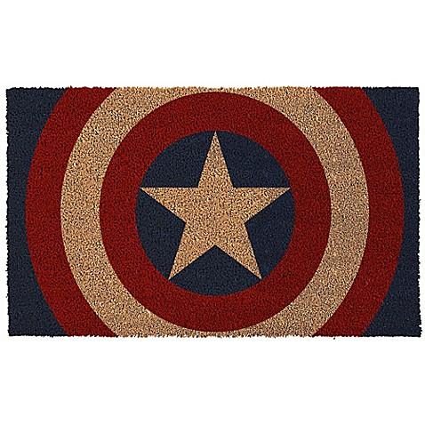 Captain America Shield 17 Inch X 29 Inch Door Mat