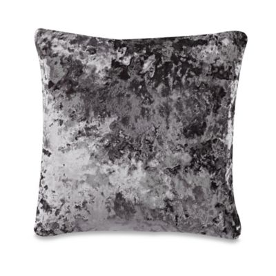 Buy Crushed Velvet Square Throw Pillow in Charcoal from Bed Bath & Beyond