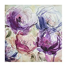 image of Stitched Spring Bloom 28-Inch Embellished Canvas Wall Art