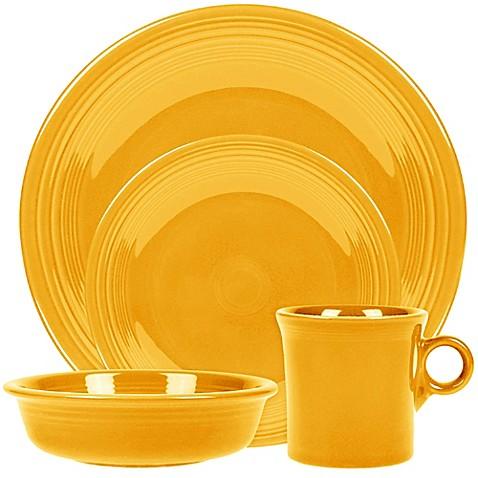 Fiestau0026reg; Dinnerware Collection in Daffodil  sc 1 st  Bed Bath u0026 Beyond & Fiesta® Dinnerware Collection in Daffodil - Bed Bath u0026 Beyond