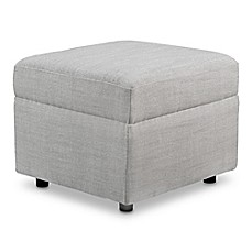 image of Baby Appleseed® Crosby Ottoman in Grey